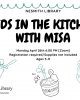 kids in the kitchen with misa monday april 26 6 pm zoom registration required supplies not included