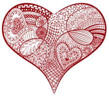 Craft Club Zentangle Valentines  Nesmith Library