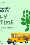 special family storytime with a real school bus and driver