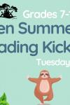 teen summer reading kickoff grades 7-12 tuesday june 29 6:30 pm