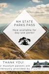 new hampshire state parks pass graphic white diamond over park vista image